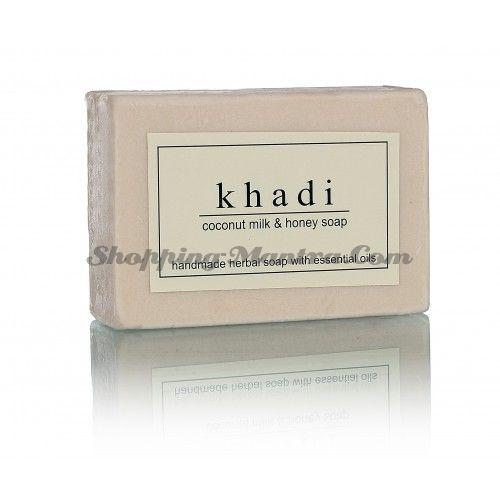 Мыло с натуральными эфирными маслами Кокосовое молоко&Мед (2шт.)(Khadi Coconut Milk&Honey)