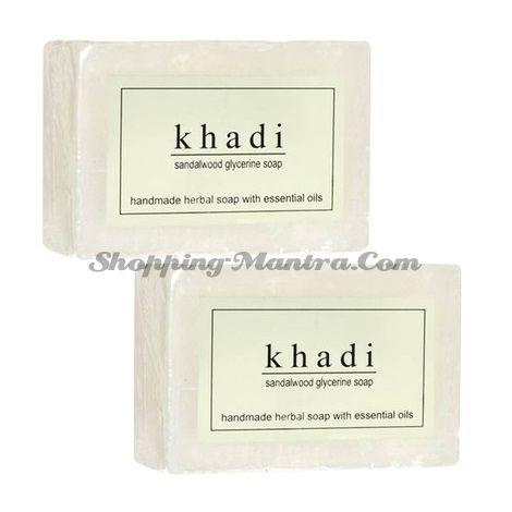 Мыло с натуральными эфирными маслами Сандал (2шт.) (Khadi Herbal Sandalwood Soap)
