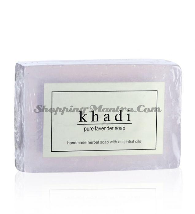 Мыло с натуральными эфирными маслами Лаванда (2шт.) (Khadi Herbal Lavender Soap)