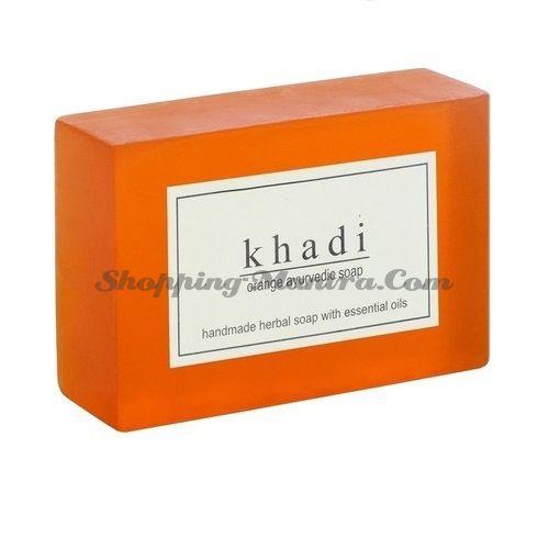 Мыло с натуральными эфирными маслами Апельсин Кхади (2шт.) (Khadi Herbal Orange Soap)