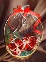 Новогодняя корзина с подарками - подарочный набор