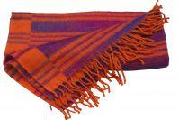 Купить оранжевый индийский плед, 600 руб. Интернет-магазин Ind-Bazaar.ru