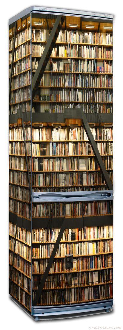 Наклейка на холодильник - Библиотека