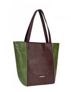Зелёно-коричневая сумка
