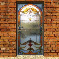 Наклейка на дверь  - Стеклянная дверь | магазин Интерьерные наклейки
