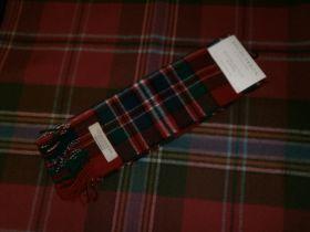 шарф 100% шерсть , расцветка клан Макфарлейн