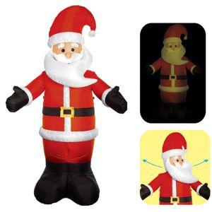 Надувная фигура «Дед Мороз поварачивает голову», 2.1 м.