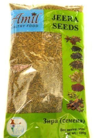Зира (кумин) семена | 100 г | Amil (Годен до: 01.05.2021 г.)