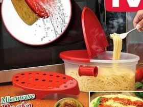 Контейнер для приготовления макарон в микроволновой печи