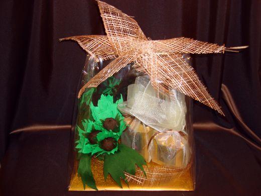 Орешек - кофейный подарочный  набор с конфетами.