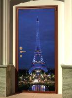 Наклейка на дверь - Paris | магазин Интерьерные наклейки