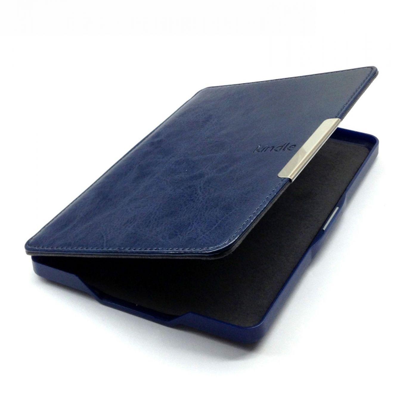 Обложка для Kindle 10 ( Темно синий ) Кожа
