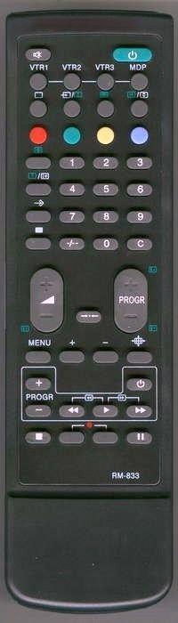 Пульт для Sony RM-833 (TV,VCR) (KV-2540A, KV-25C5A, KV-29C5A, KV-C2171KR, KV-C2501, KV-C2503B, KV-C2508D,F, KV-C2509B, KV-C2581D, KV-C2909K, KV-C2981D, KV-M2540B,E,K, KV-M2540K, KV-M2541A,D,E,K,L,U, KV-X2581K,KR, KV-X2981K,KR)