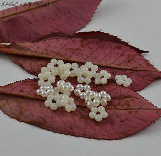 Мини цветочки из бисера