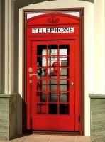 Наклейка на дверь - Телефонная будка | магазин Интерьерные наклейки
