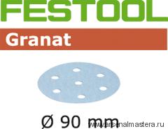 Материал шлифовальный FESTOOL  Granat P 1000, STF D90/6 P 1000 GR /50. Тестовый набор 5 шт