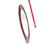 Декоративная самоклеющаяся лента (0,8 мм) №10 Цвет:красный голограмма