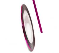 Декоративная самоклеющаяся лента (0,8 мм) №13 Цвет: темно-малиновый голограмма