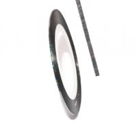 Декоративная самоклеющаяся лента (0,8 мм) №15 Цвет: темное серебро голограмма