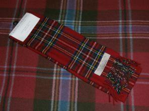 шарф 100% шерсть , расцветка королевский клан Стюартов