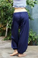 широкие синие индийские шаровары, купить в интернет-магазине Инд-Базар.ру