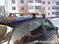 Багажник на крышy Kia Venga, Атлант, аэродинамические дуги, опора E