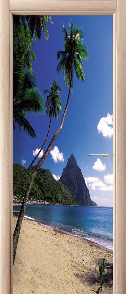 Наклейка на дверь - Море