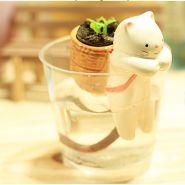 Cамополивающееся растение с забавными зверьками в стаканчике