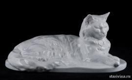 Ангорская белая кошка, Herend, Венгрия.