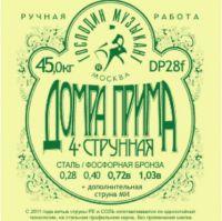 ГМ DP28F Струны Домра-прима 4-х струнная