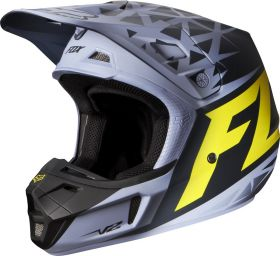 Мотошлем Fox Racing V2 Given Helmet ECE grey/yellow