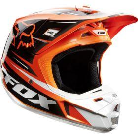 Мотошлем Fox Racing V2 Race Helmet ECE orange