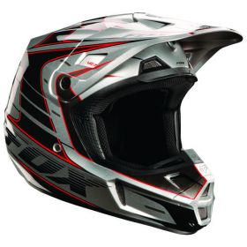Мотошлем Fox Racing V2 Race Helmet silver