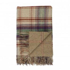 """плед шотландский двусторонний, 100 % стопроцентная шотландская овечья шерсть, расцветка """"река Тэвиот"""" Teviot, плотность 10"""
