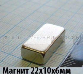 Магнит 22x10x6мм N33SH