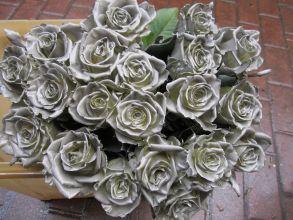 Розы в серебре