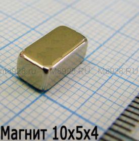Магнит 10x5x4мм N35EH