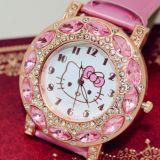 Стильные детские кварцевые часы Kitty
