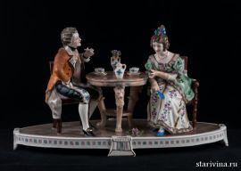 За чашкой чая, Дрезден, Германия, сер. 20 века., артикул 00685