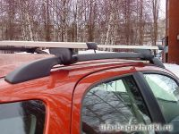 Багажник на крышу Suzuki SX4, Атлант, прямоугольные дуги на рейлинги