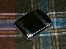 Фляжка из британского пьютера -Кельтская Тесьма