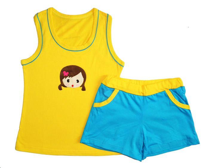 Комплект для девочки майка и шорты