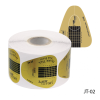Одноразовые формы «Двойная толщина» (бумажные, на клейкой основе), 500 штук JT-02