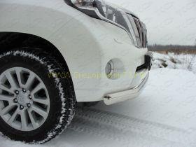 Защита переднего бампера 75 мм овальная (TOYLCPR15013-02) для Toyota Land Cruiser Prado 150 2010