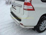 Защита заднего бампера 75х42 мм овальная (TOYLCPR15013-06) для Toyota Land Cruiser Prado 150 2013 -
