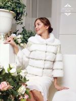 Свадебная шубка из белой норки. Дизайнер Скорнякова.