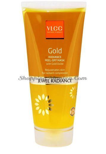 Отшелушивающая маска-пленка с частичками золота для сияния кожи лица VLCC