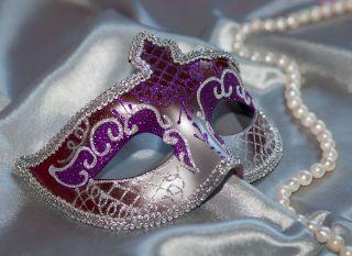 Почтовая открытка Карнавальная маска
