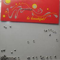 Украшение для ногтей - кружочки (50 штук в пакетике) Цвет: серебро