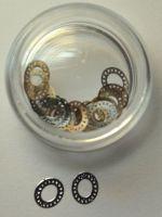 Металлическая оправа для жидких камней серебро,25 штук
